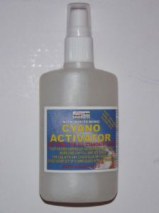 Cyanoacrylate accelerator, Superglue activator, cyano kicker 100ml bottle for all brands of instant adhesive by FiveStar StarLoc adhesives Powerfull cyanoacrylate activator spray pump for use on all brands of cyano glue ( superglue adhesive ),this product will force instant cure and increase gap filling ability with any superglue type adhesive